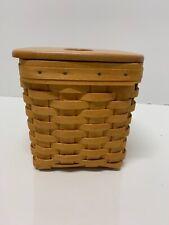 "Longaberger Woodcrafts ""Tissue Basket"" w/ Lid"