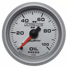 "Auto Meter Oil Pressure Gauge 4921; Ultra-Lite II 0-100 psi 2-1/16"" Mechanical"
