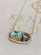 New Kendra Scott Delaney Pendant Necklace In Gold Abalone Shell