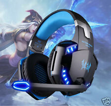 LED Gaming Headset Surround Stereo Headband Headphone with Mic USB for PC Laptop