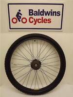 "26"" REAR DISC BRAKE Mountain Bike Wheel BLACK + 7 Speed Freewheel  + TYRE & TUBE"