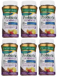 Nature's Bounty, Probiotic Gummies, tropical fruit 60 Gummies (6 Pack)