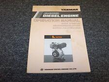 Yanmar L40E-S L40E-D L40E-SE L40E-DE Diesel Engine Owner Operator User Manual