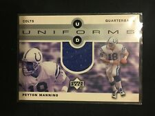 New listing 2002 Upper Deck UD Uniform Peyton Manning Jersey #UDU-PM Indianapolis Colts