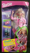 """New 1993 """"Paint 'N Dazzle"""" Blonde Barbie Doll With: Fashion Accessories"""