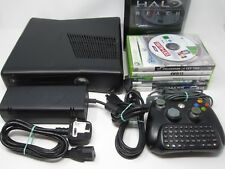 XBOX 360 NERO (PAL UK) 250 GB Console EUR + 10 GIOCO + CONTROLLER BUNDLE