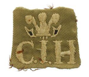 Central India Horse C.I.H. Cloth Shoulder Title Badge #44
