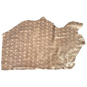 Pink Cowhide Leather Hide Silver Snakeskin Print Craft Fabric DIY Material F960
