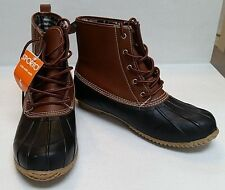 MEN'S SPORTO THERMOLITE BLACK DUCK SNOW BOOTS--Leather Upper--Size 10M