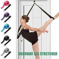Leg Stretcher Door Back Band Ballet Cheer Gymnastics Yoga Dance Training Belt