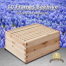 10-Frame Deep Size Beekeeping Kit Bee Hive House Frame Beehive 10 Deep Beehive