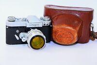 RARE 1963 START Soviet 35 mm SLR film camera w/s lens Helios 44 SUPER