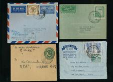 Pakistan, 3 Aerogramme und 1 Ganzsachenbrief  (S2)