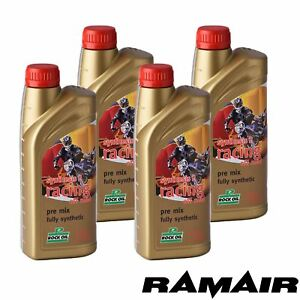 4x 1L Rock Oil Synthesis 2 Racing Off Road Fully Synth 2 Stroke Engine Oil Motox