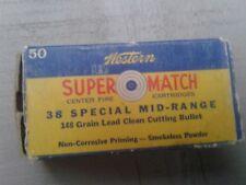 western ammunition box vintage 38 special super match winchester bullet usa
