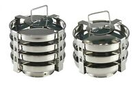 Stainless Steel Dhokla Stand 3 / 4 Plate Tier Stand For Dhokla Cooker Steamer