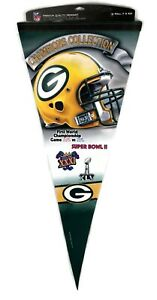 NEW NFL Green Bay Packers 4 Time Super Bowl Champions Pennant - FREE Shipping!