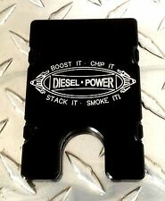 Diesel Power, Billet Aluminum Wallet/Credit Card Holder, RFID Protection, Black