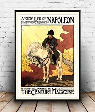 ein neues leben napoleon, reproduktion magazine cover reklameplakat, wandbild.