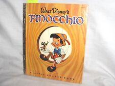 "#615 - VINTAGE LITTLE GOLDEN BOOK - WALT DISNEY'S ""PINOCCHIO"""