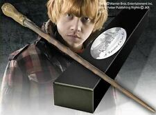 HARRY POTTER OFFICIAL RON WEASLEY PROP REPLICA WAND + BONUS NAME CLIP STAND NEW