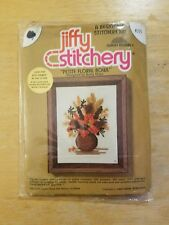 Crewel Embroidery Kit Petite Floral Bowl Jiffy Stitchery Betty Miles #275 Sunset