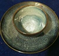 THRESHOLD CAMBRIDGE BLUE PLATE AND BOWL SET!    BB828DXX