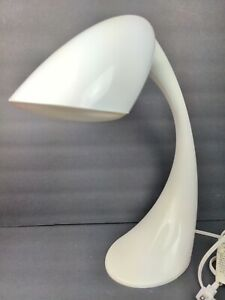 Verilux Smart Light Curve Desk Productivity Lamp in White Happy Light Mood