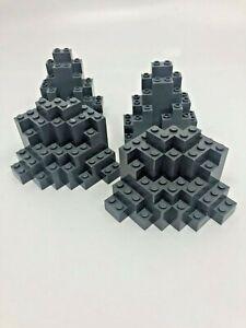 4x Lego Dark Grey Rock Panel Wall - 23996 / 6082 / 6083