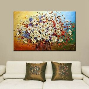CHENPAT321 charming a bunch flower art hand-painted oil painting on  canvas