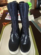 Womens Vans Sz 5 Tall Navy Blue Winter Boots. Off The Wall WB10
