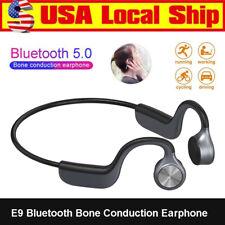 E9 Bluetooth 5.0 Bone Conduction Earphone Sports Handsfree Wireless Headphones