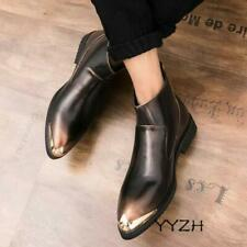 Men Autumn Round Toe Dress Formal Shoes Slip On Ankle Shoes Non Slip Low Heel