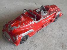 Vintage 1940s Metal Hubley Kiddie Toy Fire Truck No 463