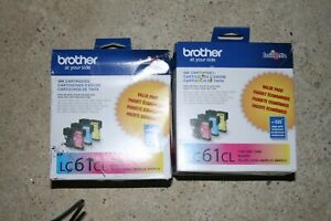 BROTHER LC 6 CL PRINTER INK YELLOW, CYAN, MAGENTA 2 boxes 6/21 + 12/20