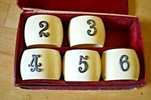 BAKELITE NAPKIN RINGS x 5