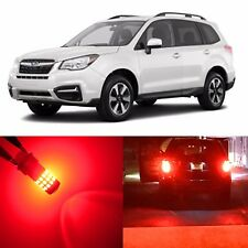 Alla Lighting Rear Turn Signal Light 1156 Pure Red LED Bulbs for Subaru Tribeca