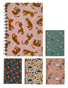 Various Colour Cartoon A5 Squared Notepads 70 Sheets 80gsm