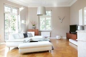 Hochwertiges Designer Sofa von W.Schillig | Leder weiß | + Hocker für Sitzlounge