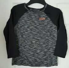 Miss Fiori Active. Long Sleeve  Top. Girls Size 11-12 yrs. Grey/Black
