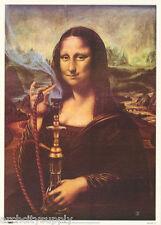POSTER : MARIJUANA THEMED:  MONA LISA WITH A BONG - FREE SHIP  #8260    LW14 G