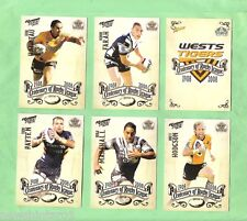 2008  SELECT NRL CENTENARY  RUGBY LEAGUE TEAM CARDS - WESTS TIGERS