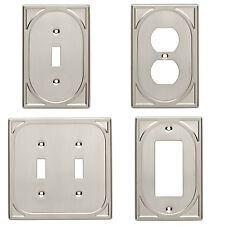 Double Switch Single Switch Plate Outlet Cover Wall Rocker Satin Nickel