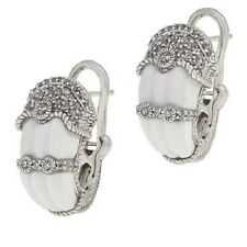 Judith Ripka White Carved Gemstone and Diamonique® Earrings QVC $160