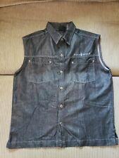 Rockawear Men's Sleeveless Denim Look Button Down Vest Jacket XL