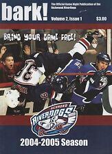 2004 - 2005 Richmond Riverdogs vs Flint Generals hockey program