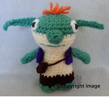 "Amigurumi Hand Crocheted Wallykazam Bob Goblin *NEW* 6"" Doll Made to order"