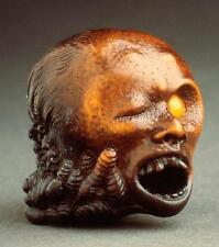 Old Photo.  Japan.  Scary Decapitated Head - Female - sculpture