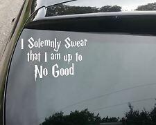 LARE GHarry Potter Solemnly Swear Car/Window JDM VW EURO Vinyl Decal Sticker