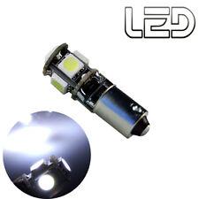 1 Ampoule 5 LED Blanc BA9s T4W Resistance Anti erreur ODB Veilleuses Habitacle